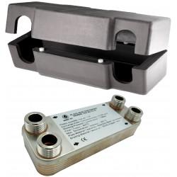 Wymiennik ciepła Ba-12-12 5-15kW + Izolacja termiczna