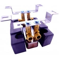 Wymiennik ciepła Ba-12-12 5-15kW + Izolacja termiczna +Wspornik montażowy ze śrubunkami
