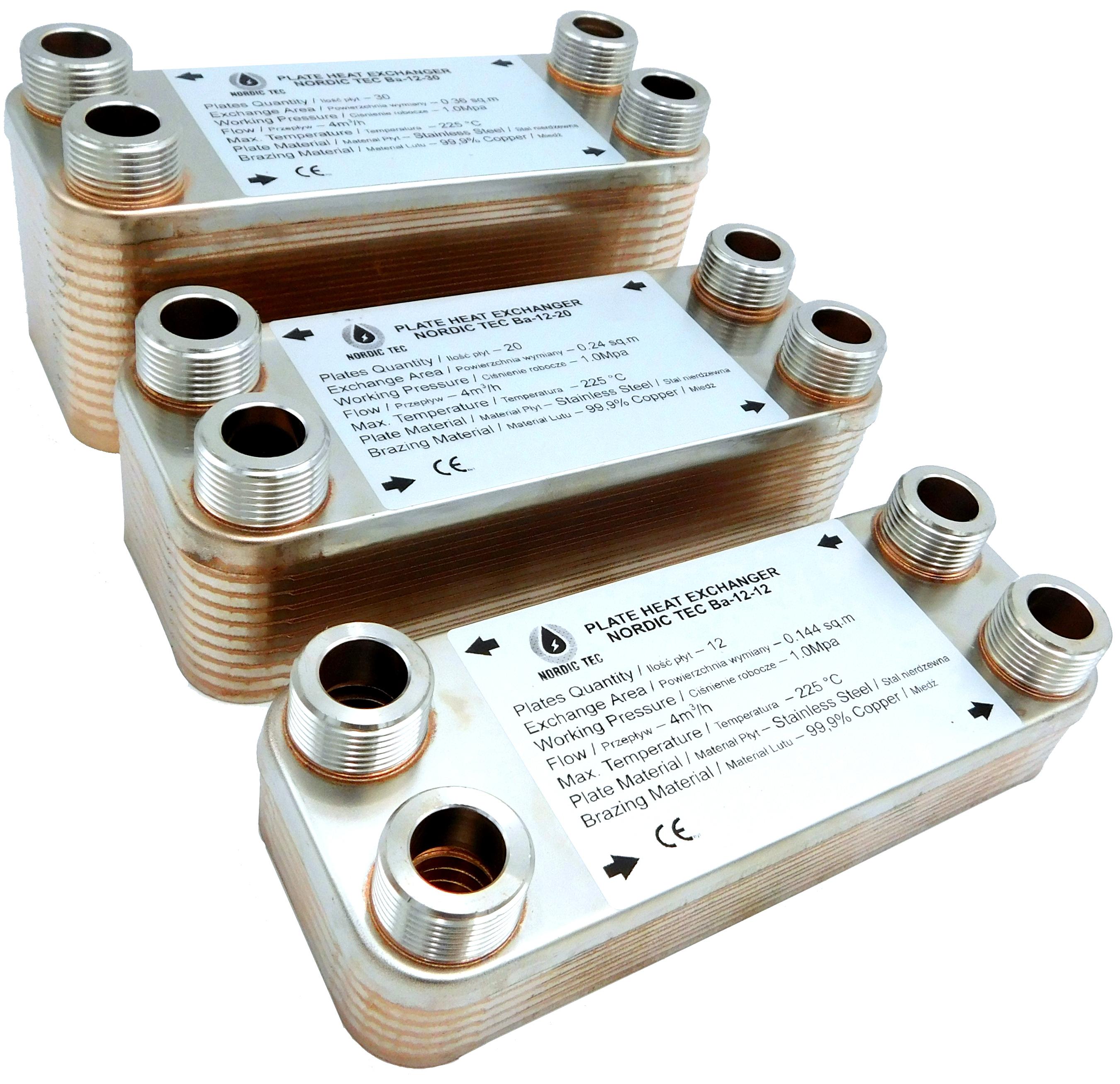30 placas 3//4 max Intercambiador de placas NORDIC Ba-12-30 65kW