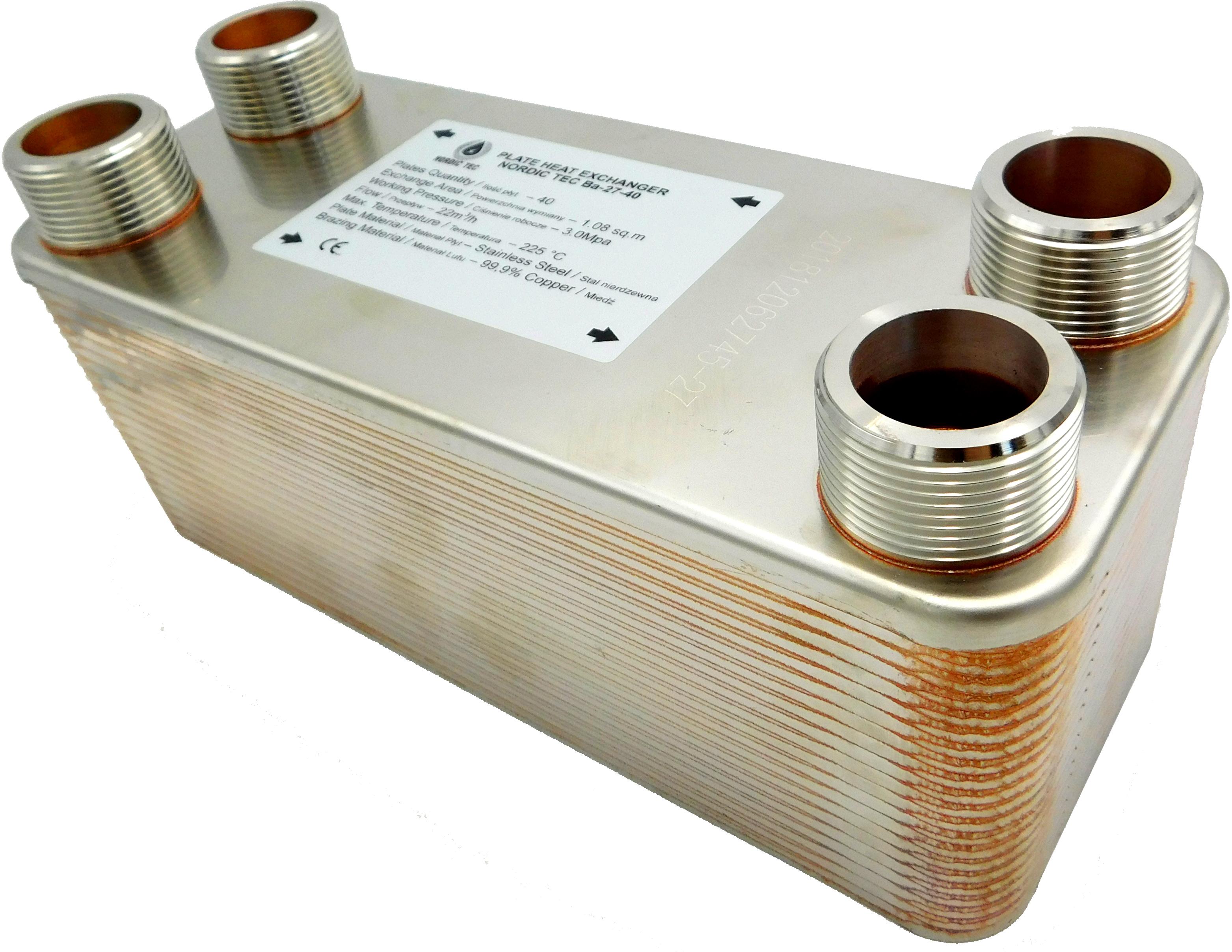 """Edelstahl W/ärmetauscher Plattenw/ärmetauscher NORDIC TEC Ba-32-40 230kW 40 platten 1/"""""""